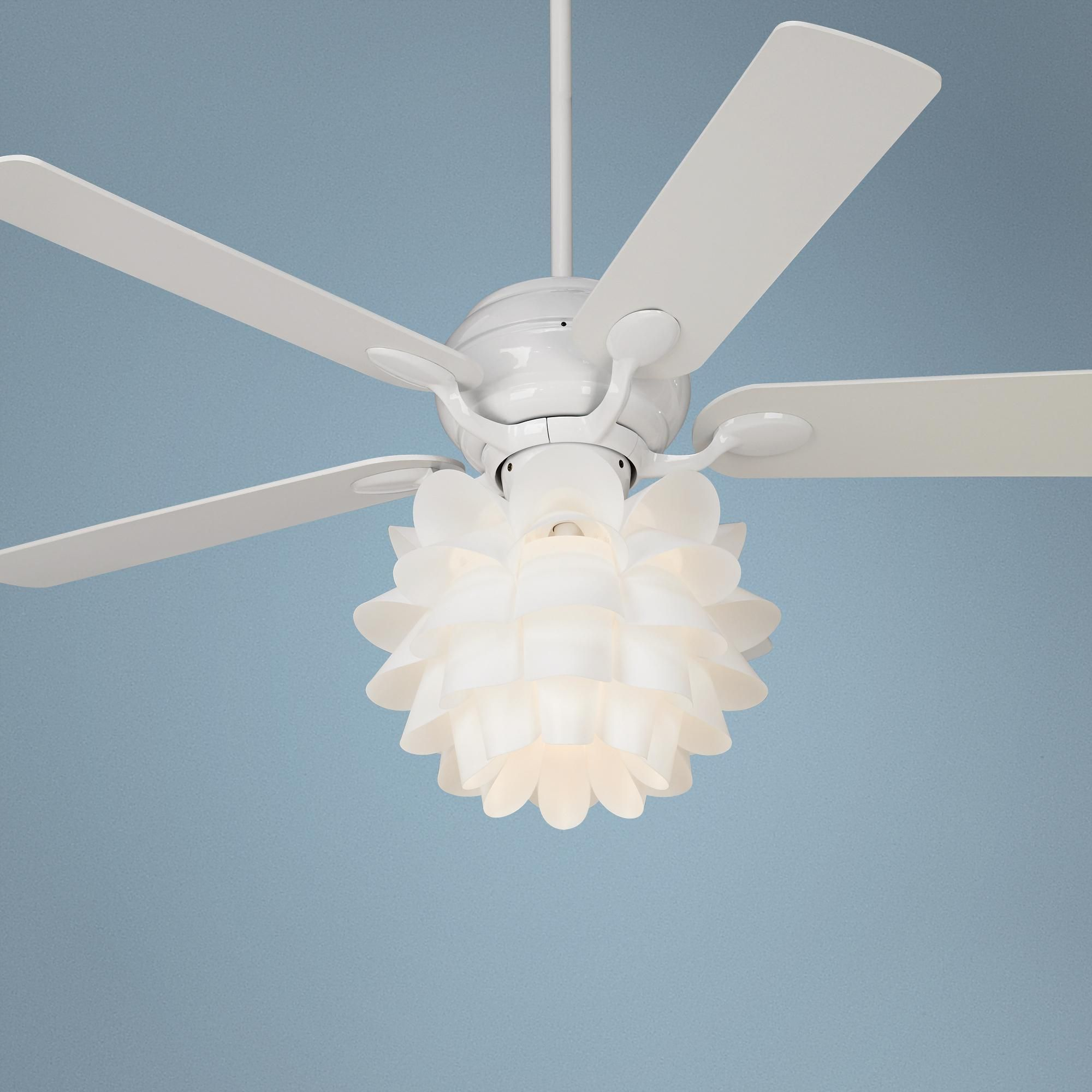 White Flower Ceiling Fan 52 Quot Casa Optima Flower Light Kit White Ceiling Fan