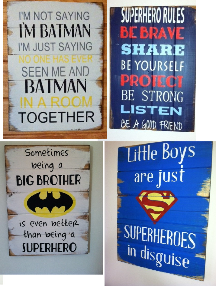 Present Little Superhero Blue On Board Personalised Car Sign New Baby Child Gift