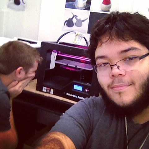 Something we liked from Instagram! Hey look a #3dprinter  I'm watching how it works in my #3danimation class. #excited #techschool #thislookscool #itsmelledgood #oddlyenough #selfie #cliché by d33p_fang check us out: http://bit.ly/1KyLetq