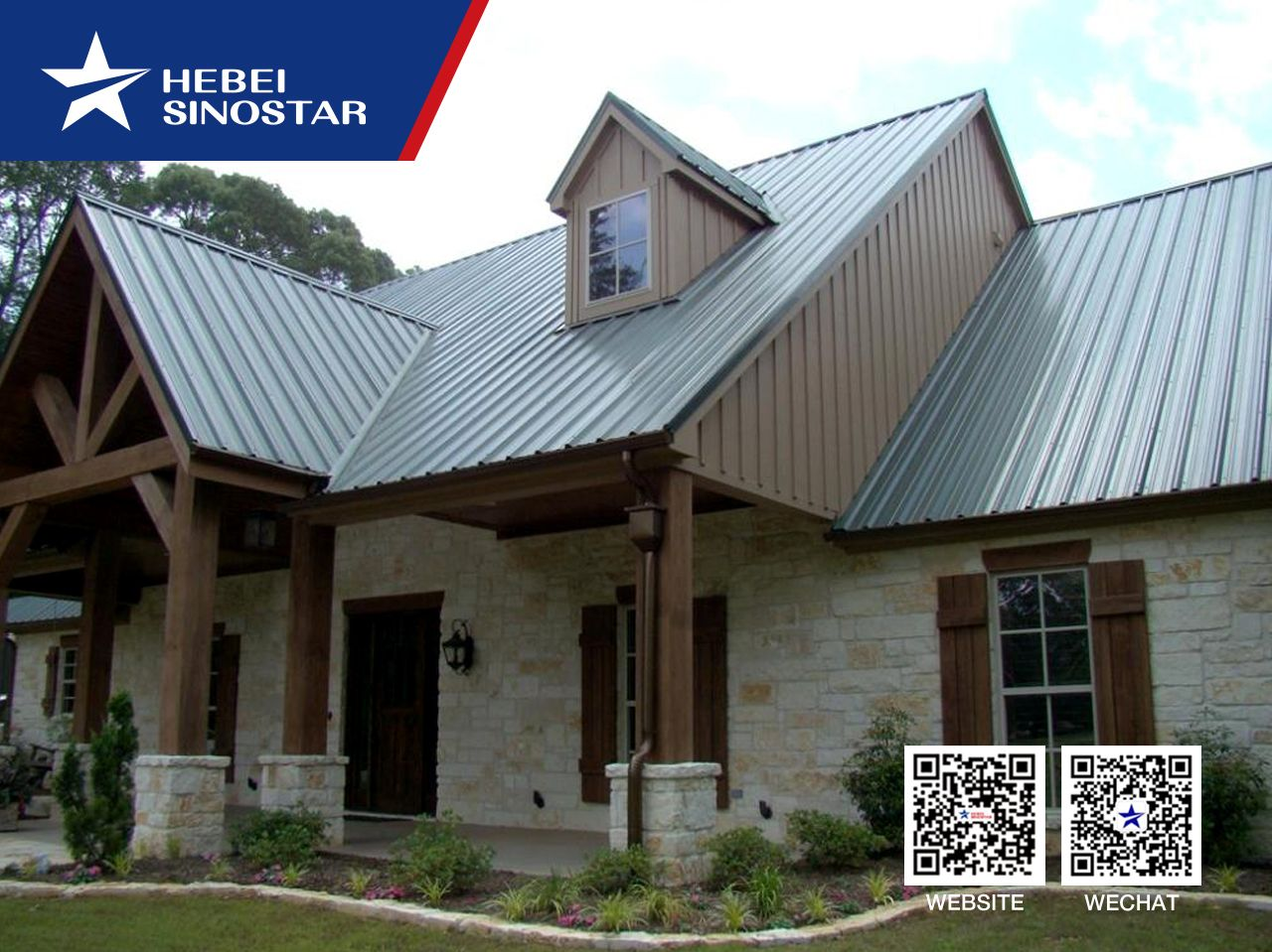 China Galvanized Corrugated Zinc Roofing Sheet Manufacturer And Supplier We Provide Galvanized Corruga In 2020 Limestone House Metal Roof Houses Craftsman House Plans