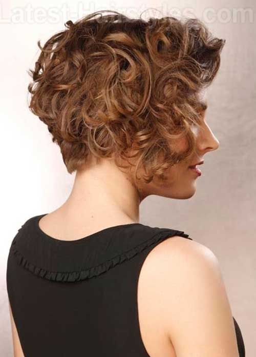 13 Best Short Layered Curly Hair Stacked Hairstylescurly Bob