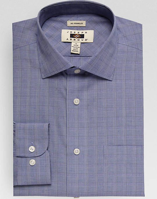 Joseph Abboud Blue Check Dress Shirt Mens Dress Shirts Clothing