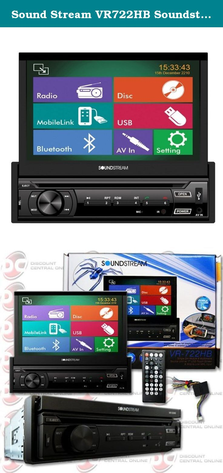 Sound Stream Vr722hb Soundstream Flip Out 7 U0026quot  Bluetooth
