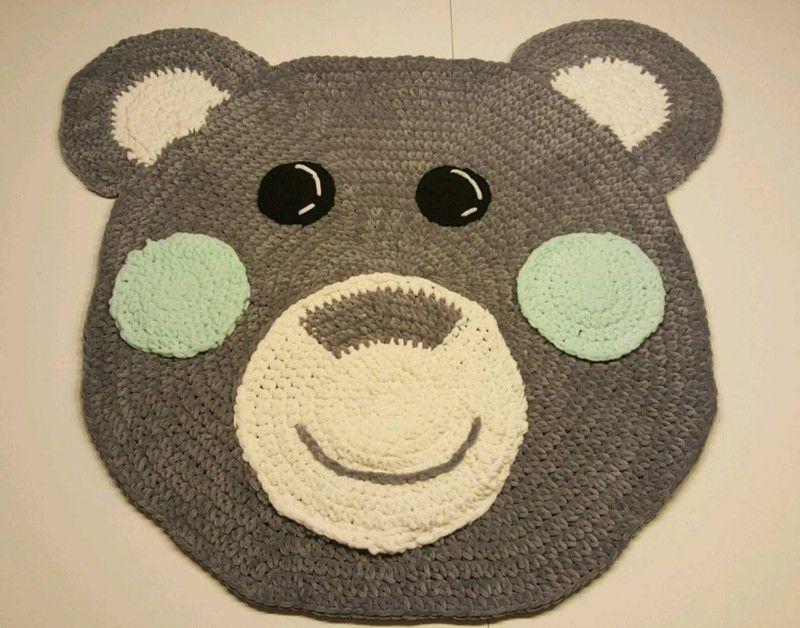 Teddy Teppich 80 Cm Durchmesser Gehäkelt Häkeln Diy Und Selbermachen