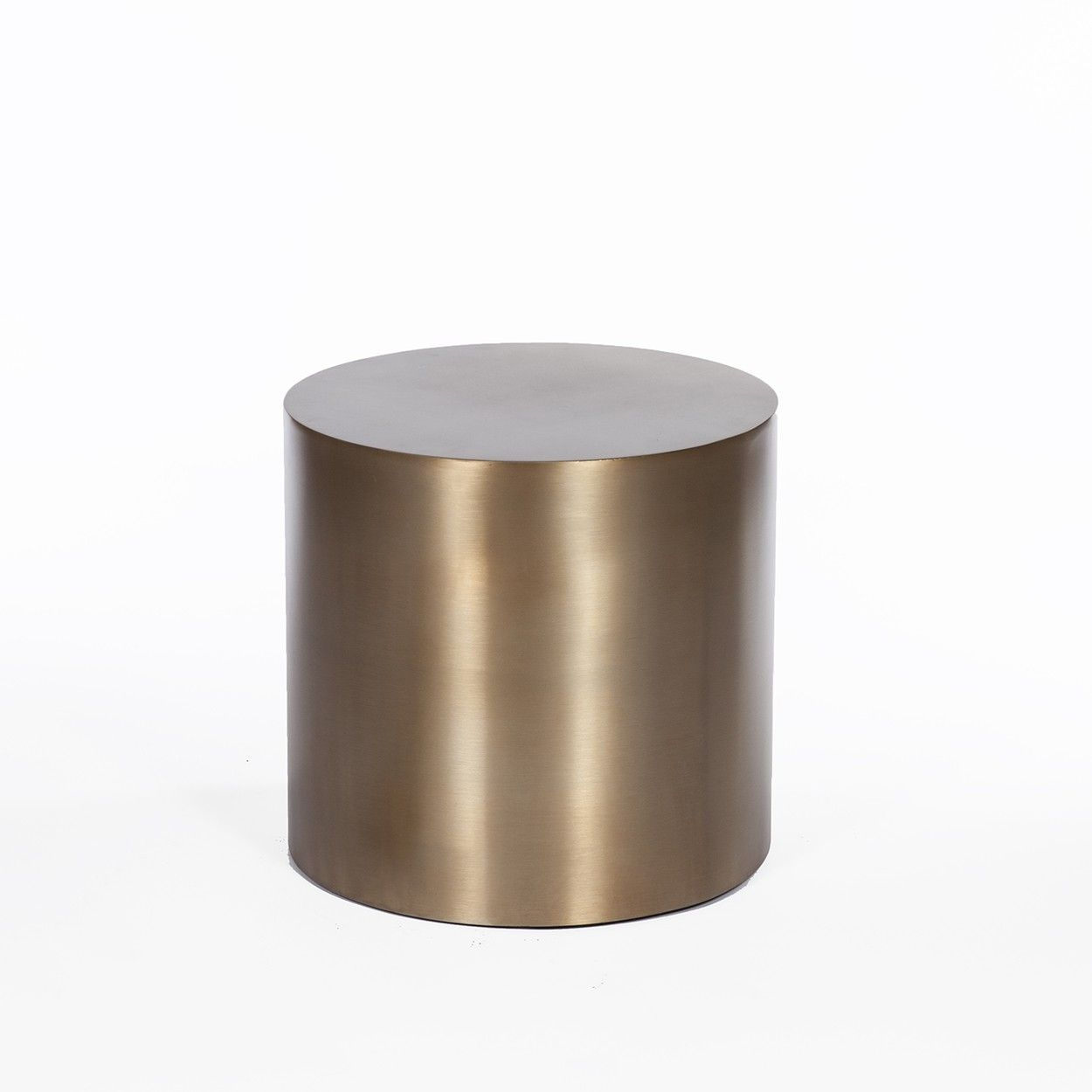 Brass Drum Side Table Round Products Pinterest Drum Side - Brass drum side table