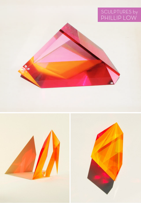 acrylic sculptures by Phillip Low / hat tip to @Present & Correct