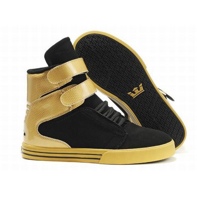 786921eea733 women tk society gold and black high top supra shoes