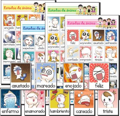 Lotería Estados De Animo En Español Para Imprimir Animo Lotería Imprimir Sobres