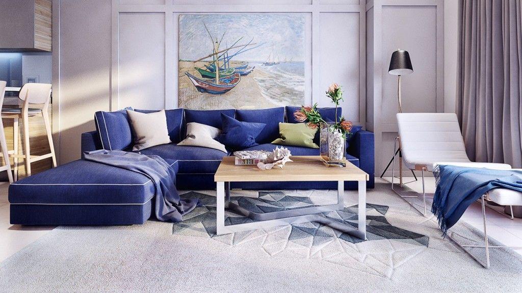 Best Stunning And Beautiful Modern Apartment Design Royal Blue 400 x 300