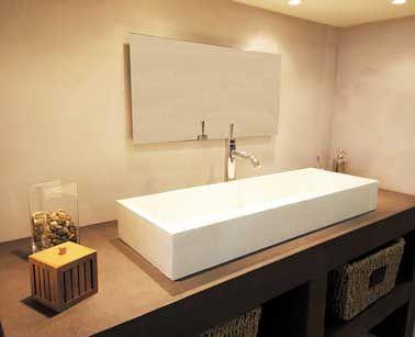 relooker sa salle de bain avec du b ton min ral c 39 est top. Black Bedroom Furniture Sets. Home Design Ideas