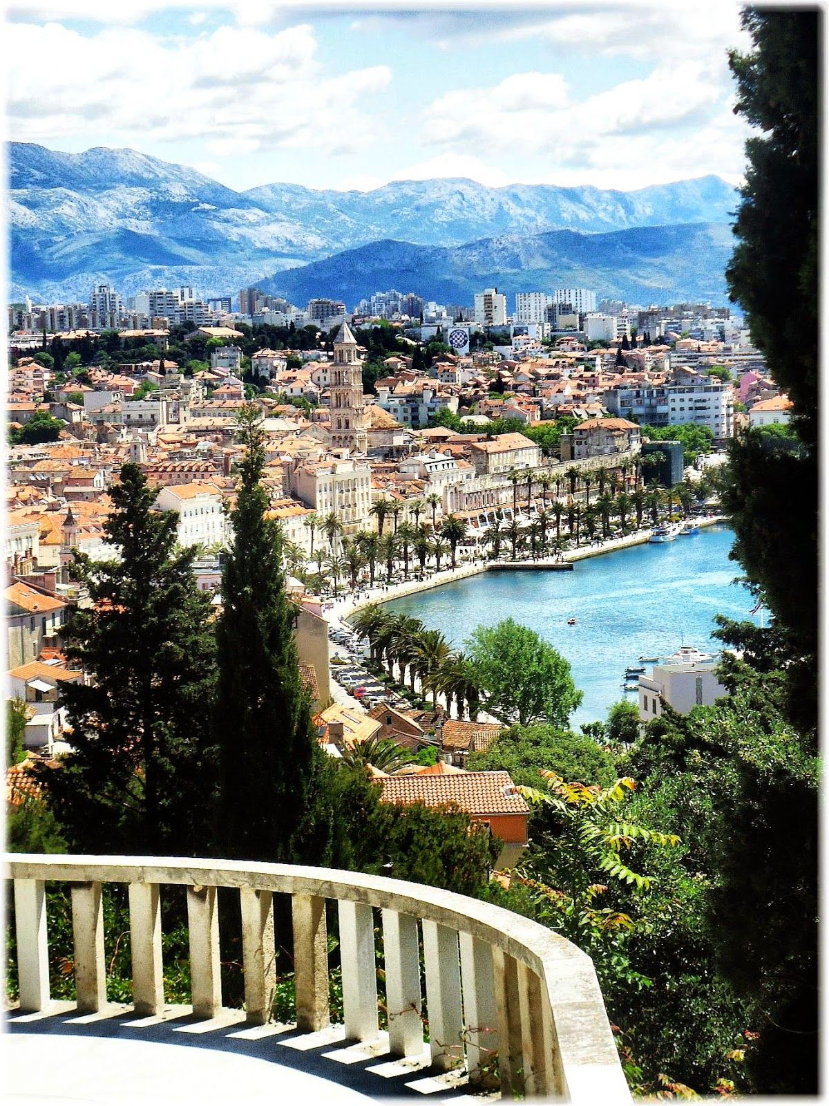 It was so nice traveling through here Split Croatia