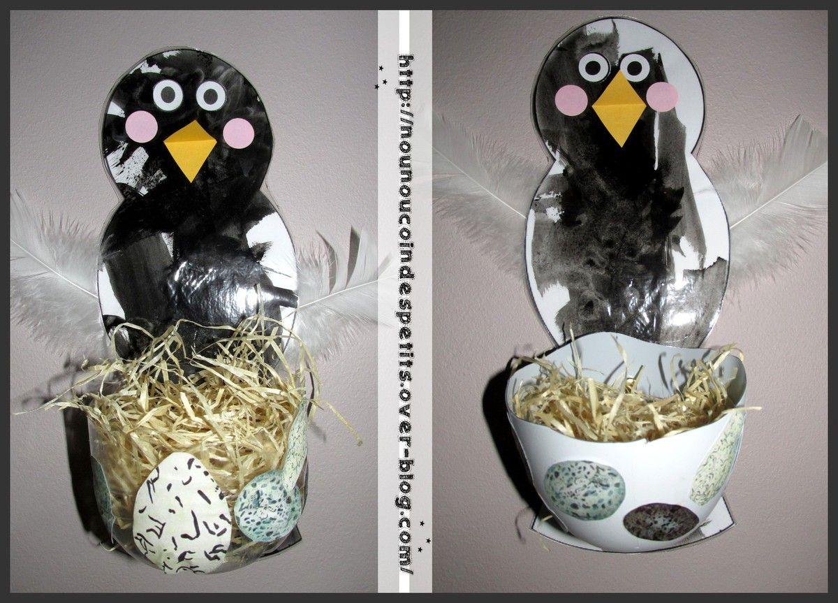 printemps l 39 oiseau et son nid bricolage. Black Bedroom Furniture Sets. Home Design Ideas