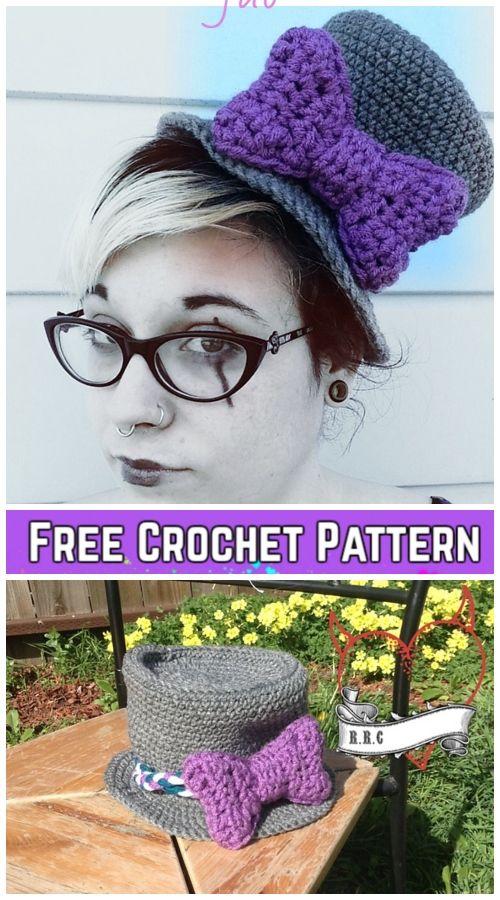 Crochet Halloween Top Hat Free Crochet Pattern For Ladies Video