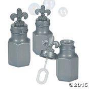Fleur De Lis Bubble Bottles