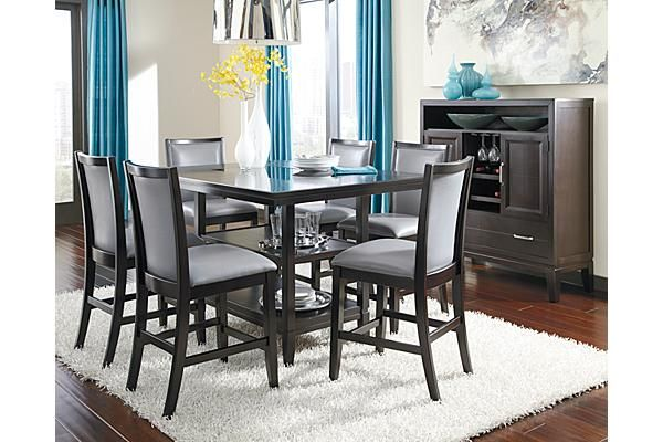 The Trishelle Counter Height Dining Room Table From Ashley Furnit