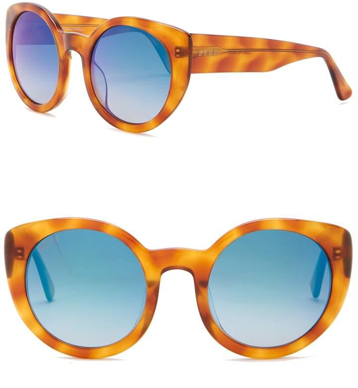 9fe6abeb6e Cat Eye Diff Luna Round 54mm Acetate Sunglasses in 2019