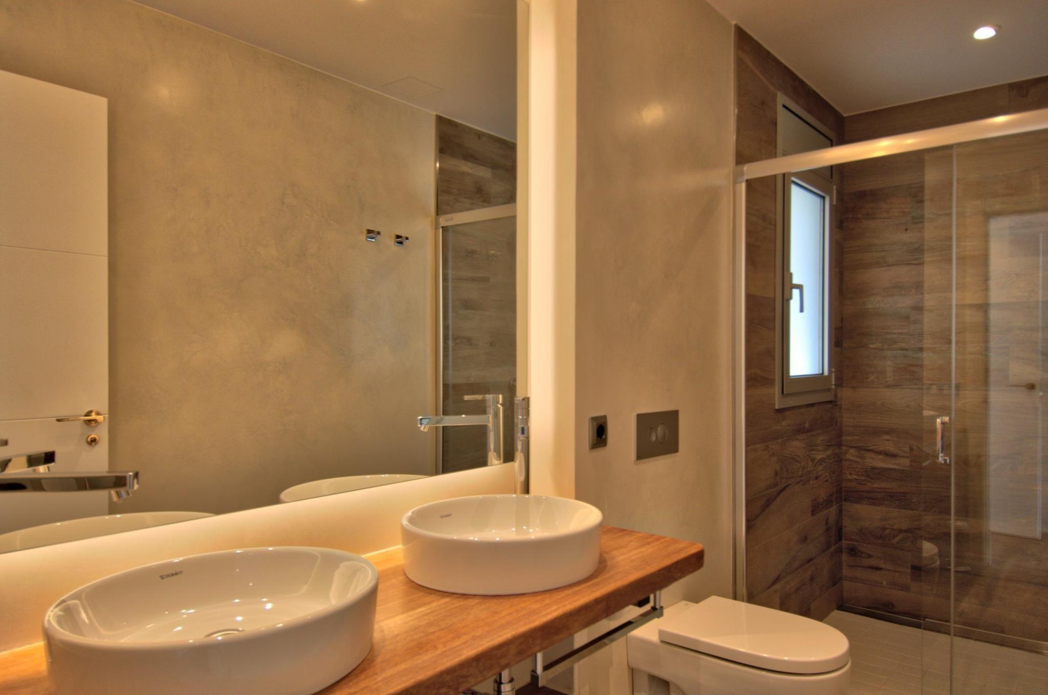 Kleines badezimmer design 5 'x 6' xalet a calella de palafrugell obra nova materials subministrats