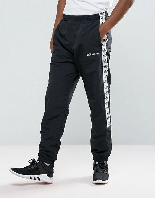 3341d5fae adidas Originals Adicolor TNT Tape Wind Track Joggers In Black AJ8830