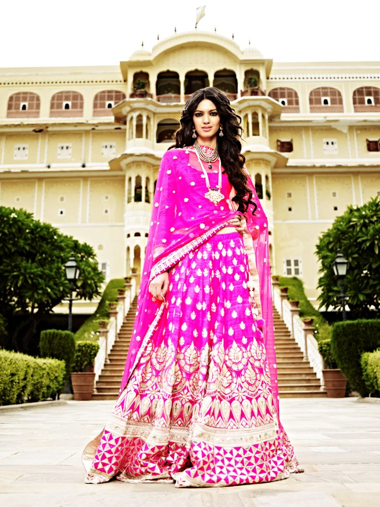 Pink lehenga from the Jaipur Bride 2013 collection by Anita Dongre ...
