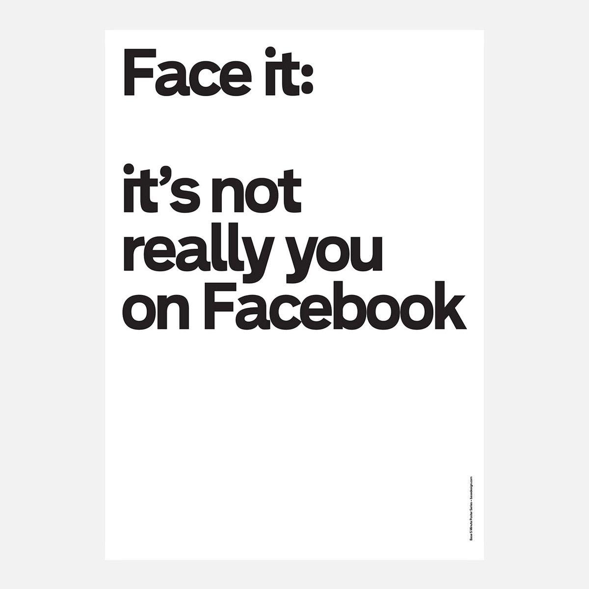 eu.Fab.com   Poster Not Really You On FaceBk