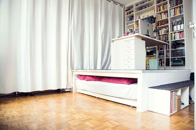 wie wir uns ein podest bauen eine diy anleitung home bett podest podest bauen. Black Bedroom Furniture Sets. Home Design Ideas