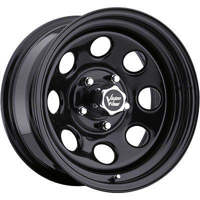 16x8 Black Vision Soft 8 Wheels 5x5 12 Lifted Chevrolet C 1500 Tahoe Araba