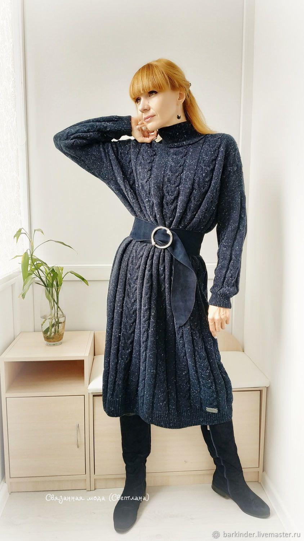 7729ba5c282 Платья ручной работы. Заказать Вязаное кашемировое платье