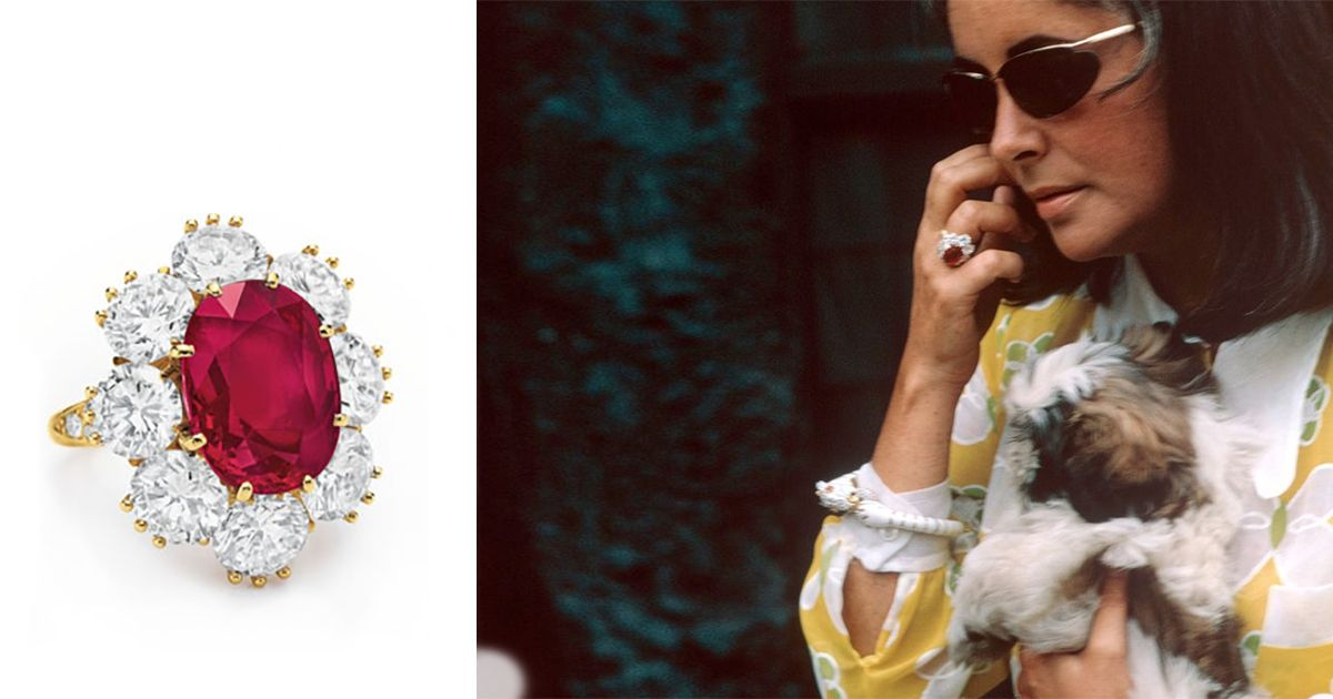 Elizabeth Taylor S Ruby Was A Stocking Stuffer Elizabeth Taylor Jewelry Ruby Ring Elizabeth Taylor Ring