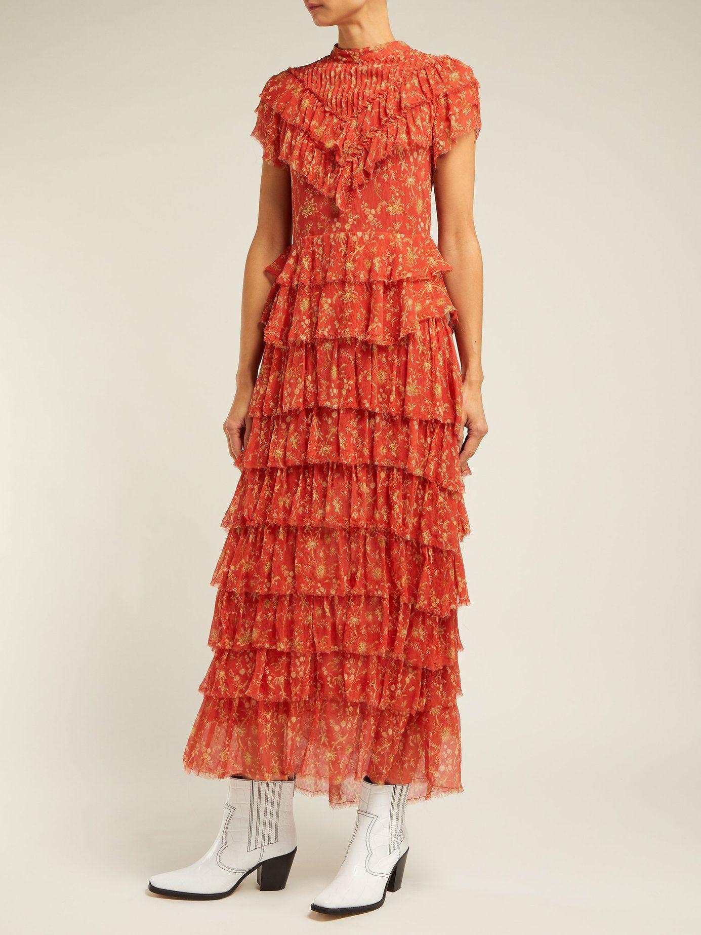 f178c1122e59e1 Posey floral-print crinkle-silk midi dress