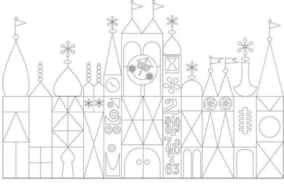 It S A Small World Digital Printables Disney Scrapbook Disney Coloring Pages Small World