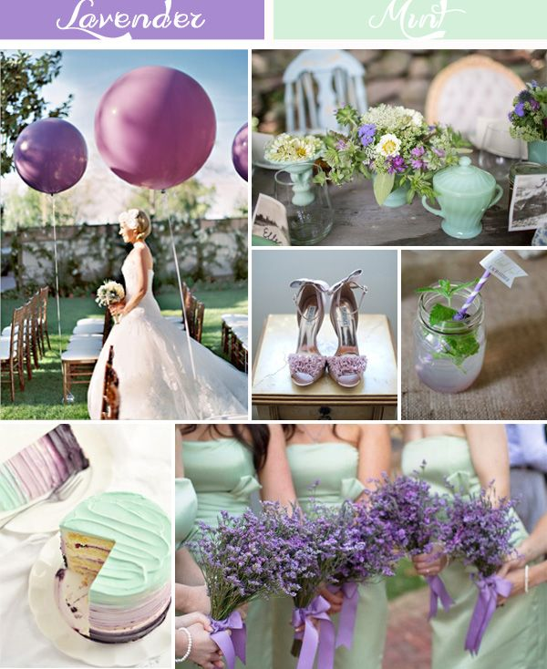 Mint Color Outdoor Ceremony Decorations: Lavender Inspired Wedding Color Ideas And Wedding
