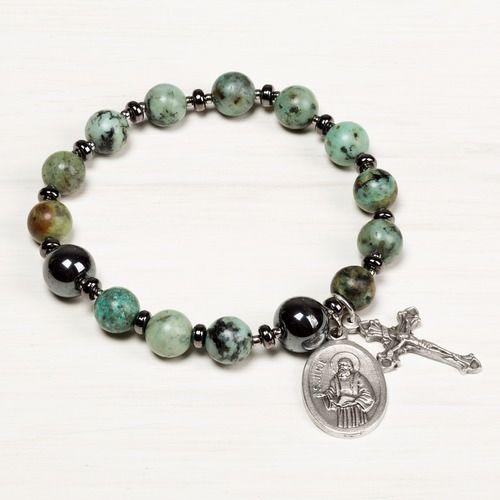 St. Jude Rosary Bracelet #rosaryjewelry