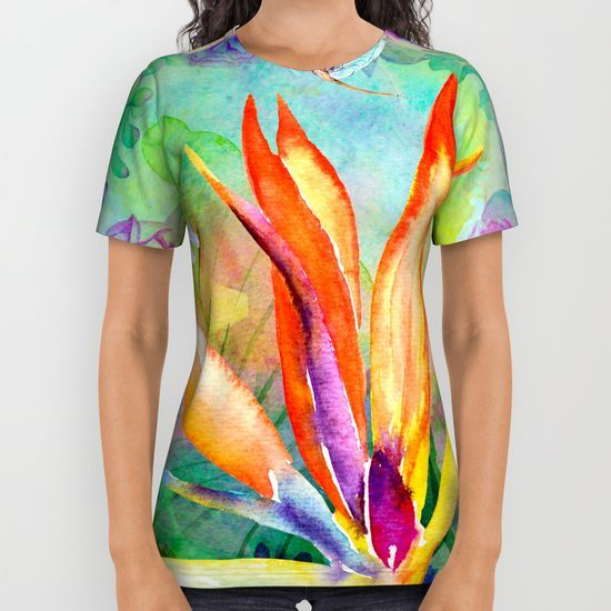 Bird of paradise i All Over Print Shirt
