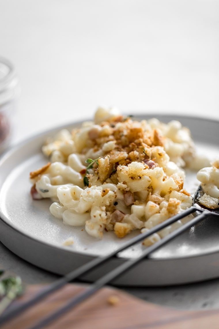 Creamy Mac n Cheese for Adults You may not have ever had a goat cheese pasta, but it's just the