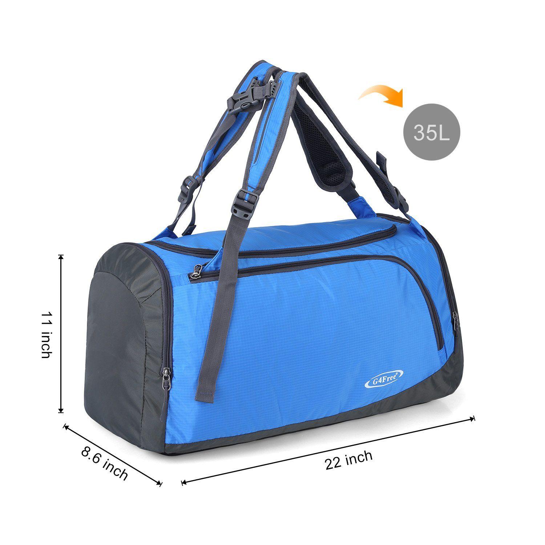 G4Free 35L Lightweight Sports Gym Bag Travel Duffle