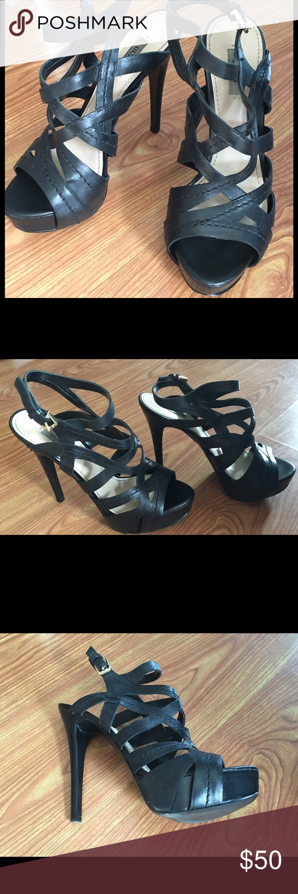 Guess Heels Only worn once Guess Shoes Heels