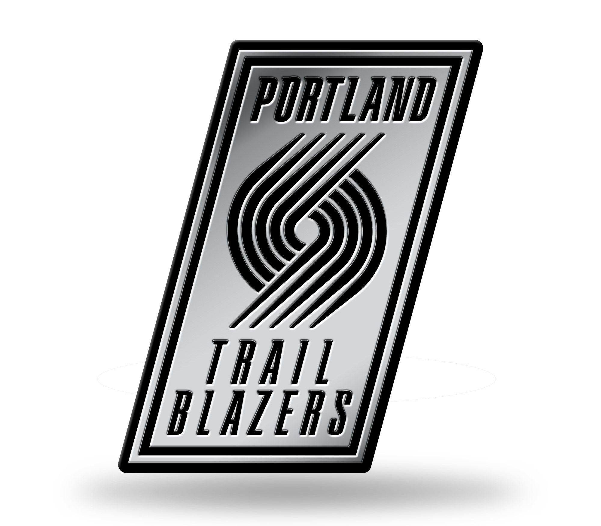 Portland Trail Blazers Logo D Chrome Auto Emblem NEW Truck Or - Custom vinyl decals portland oregon