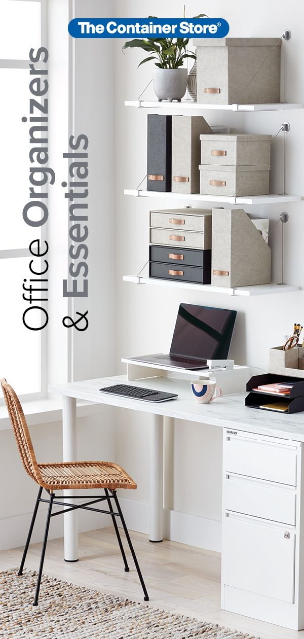Storage and organization essentials for any office space! (With images)   Home. Home office decor