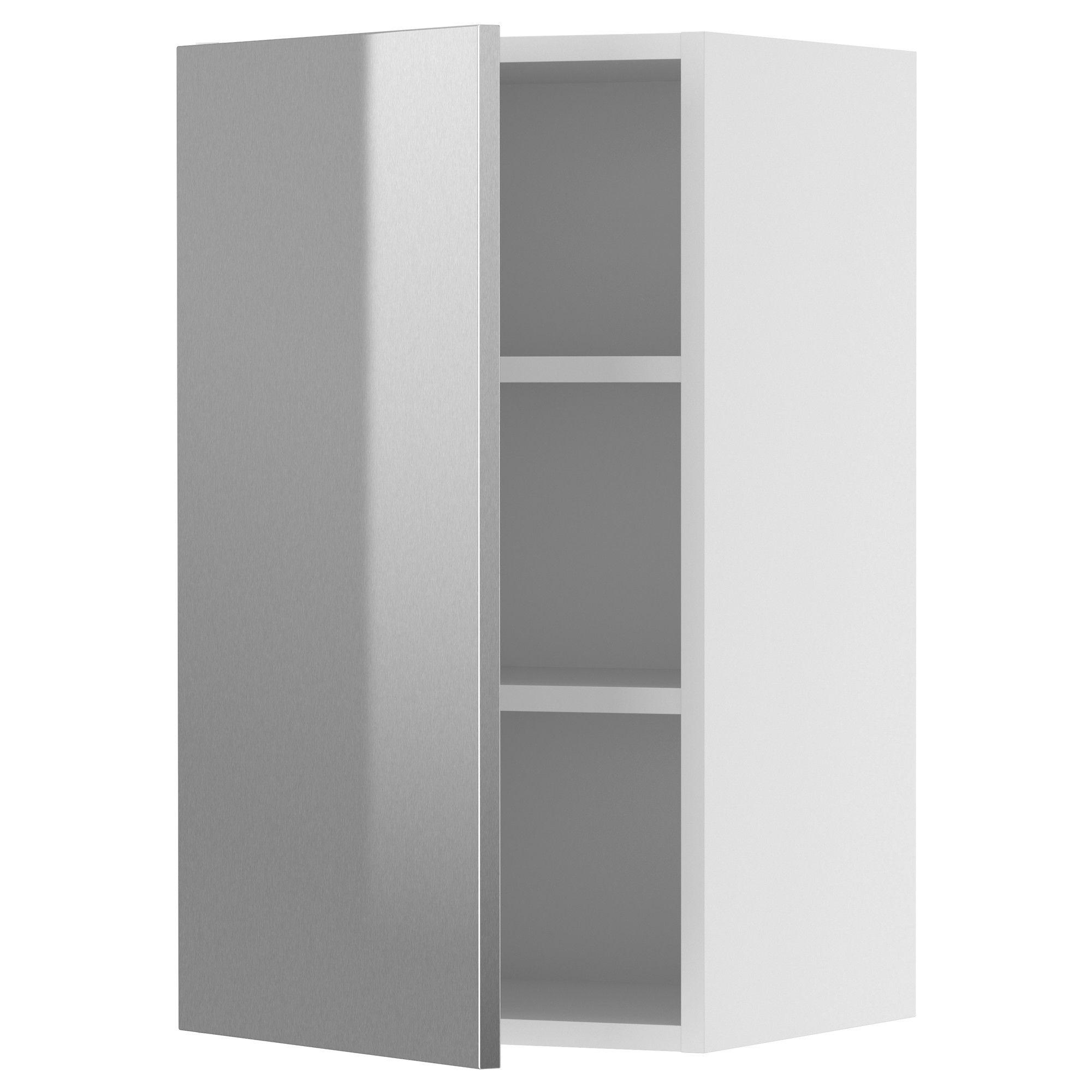 Faktum Wall Cabinet Rubrik Stainless Steel 30×70 Cm Ikea  # Muebles Cocina Ikea Faktum
