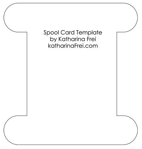 spool card Template