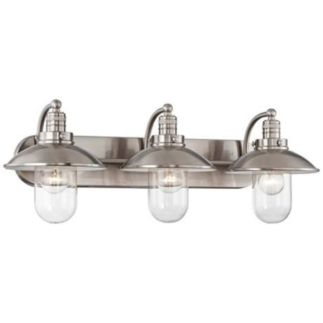 """Photo of Downtown Edison 28 1/2 """"wide brushed nickel bath light – # 2Y639 