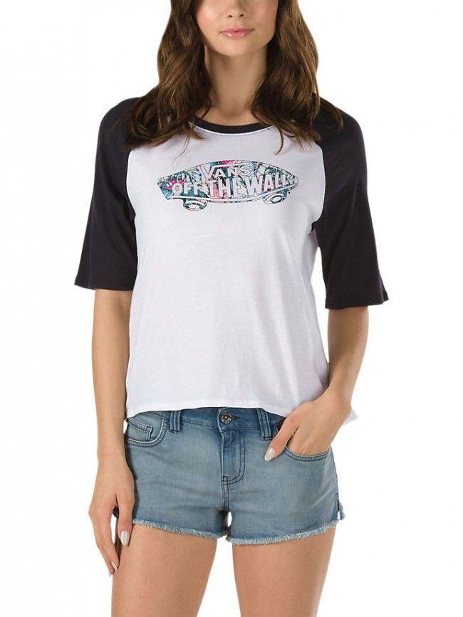 73c2859b1a Tropic Skate 3 4 Sleeve Raglan T-Shirt for women by Vans