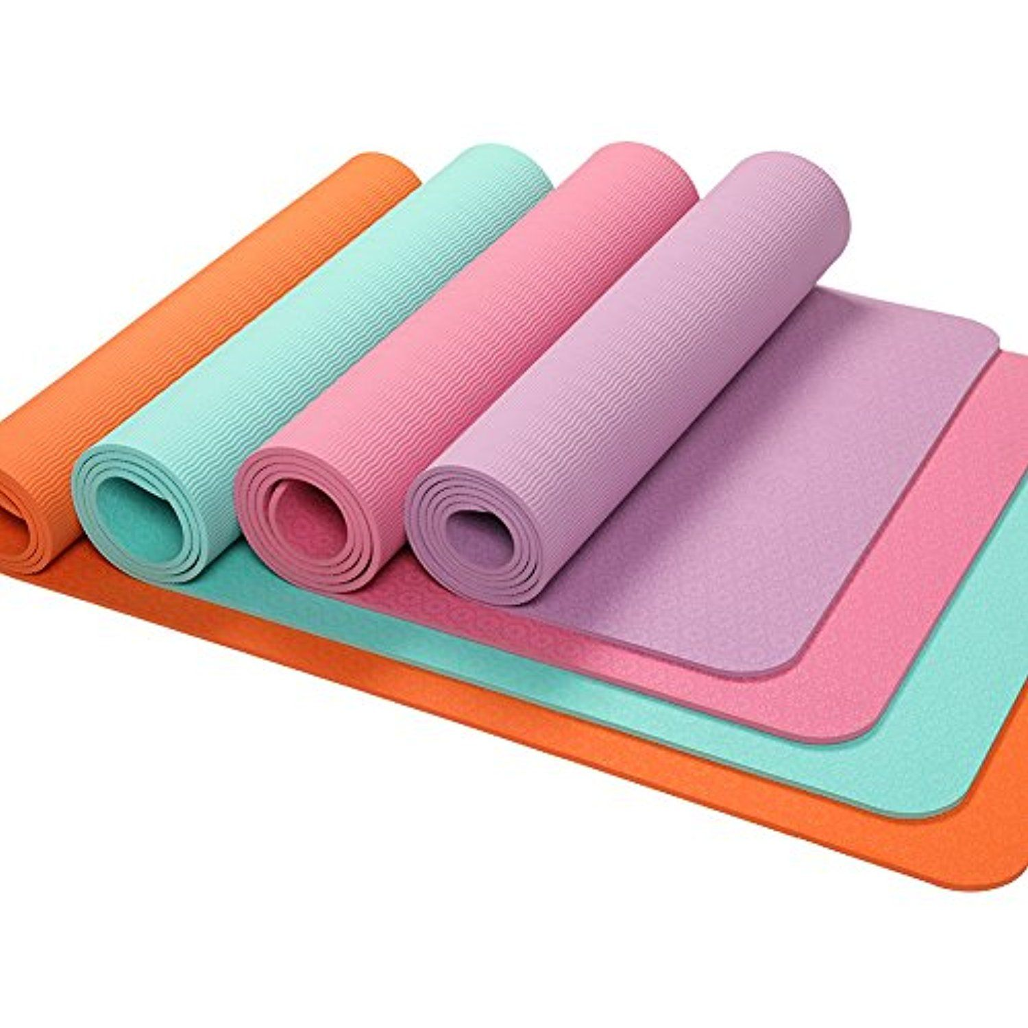 Oyoga Non Slip Yoga Mat Tpe Thick 1 4 Inch Grip Pilates Exercise Mats 72 Inch With Travel Bag See This Great Pr Mat Pilates Workout Pilates Workout Yoga Mat