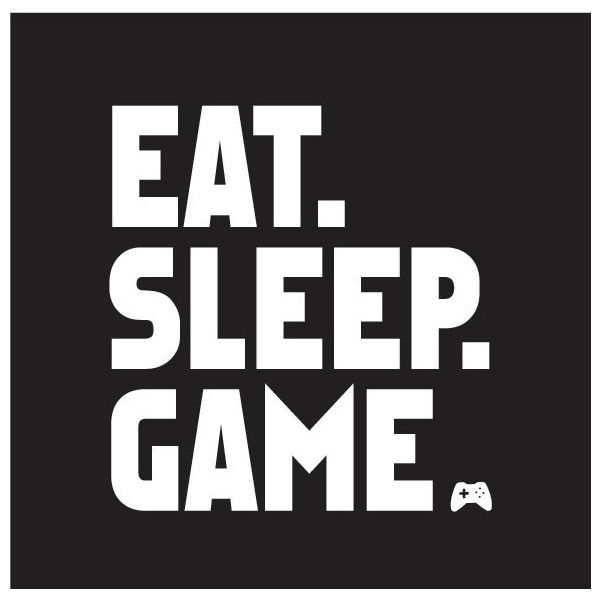 Size Large Eat Sleep Game Video Gamer Tshirt ($10) ❤ liked on Polyvore featuring intimates, sleepwear, black, tops and women's clothing
