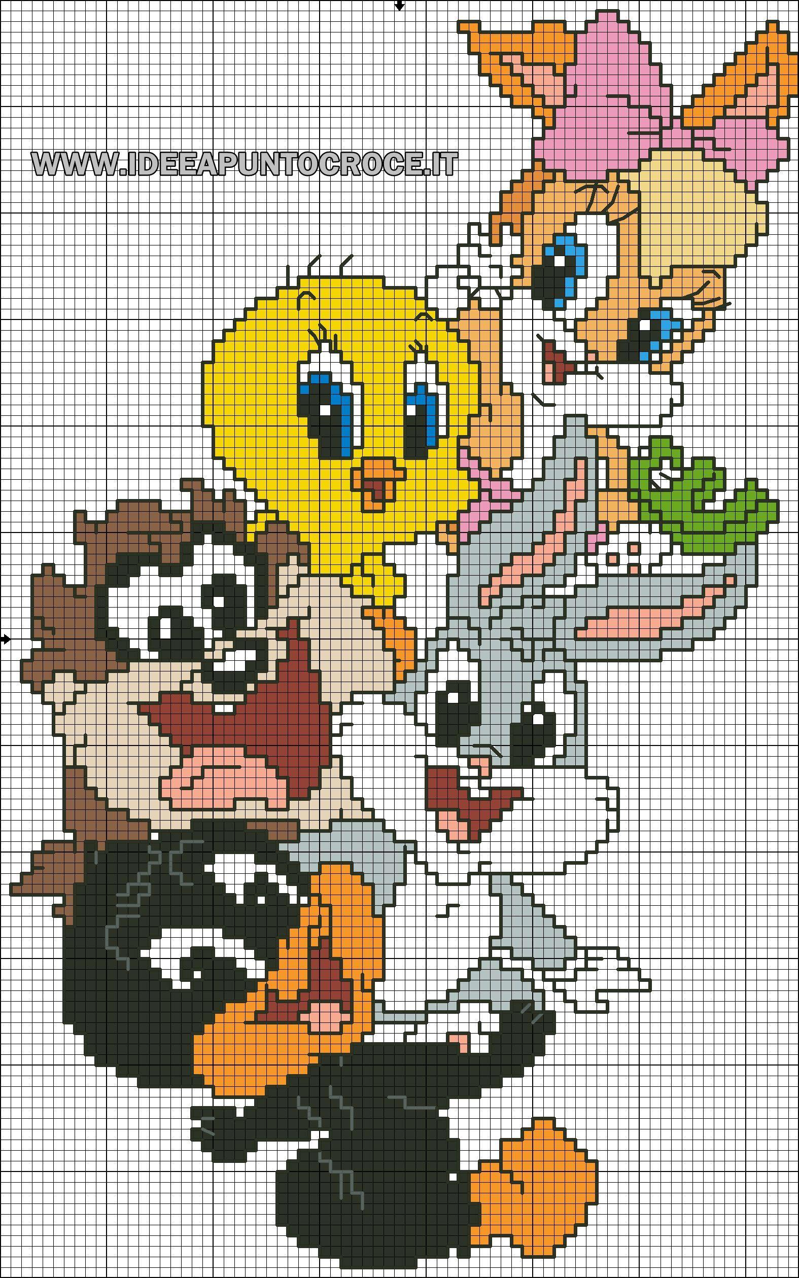 a40804257 schema baby looney tunes | punto croce | Cross stitch patterns ...