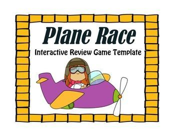 test/review prep game: plane race with question/answer template, Modern powerpoint