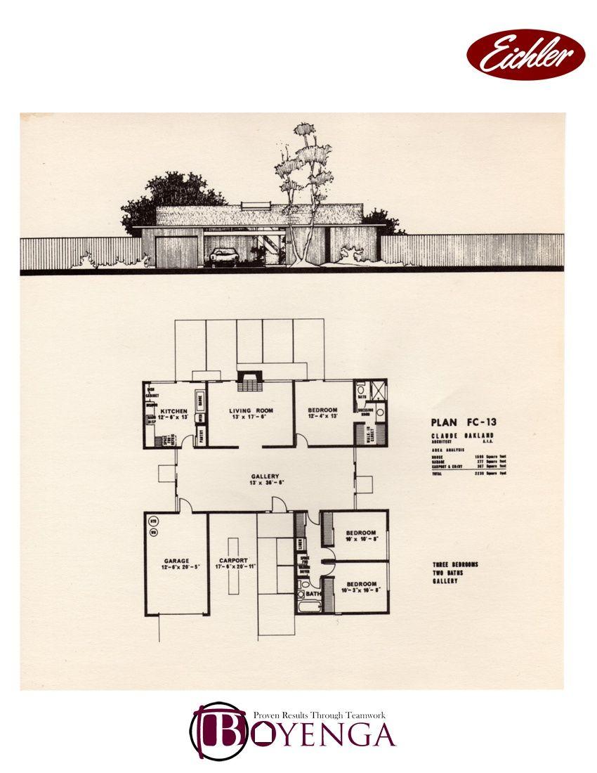 Modern house plans eichler for Eichler style home plans