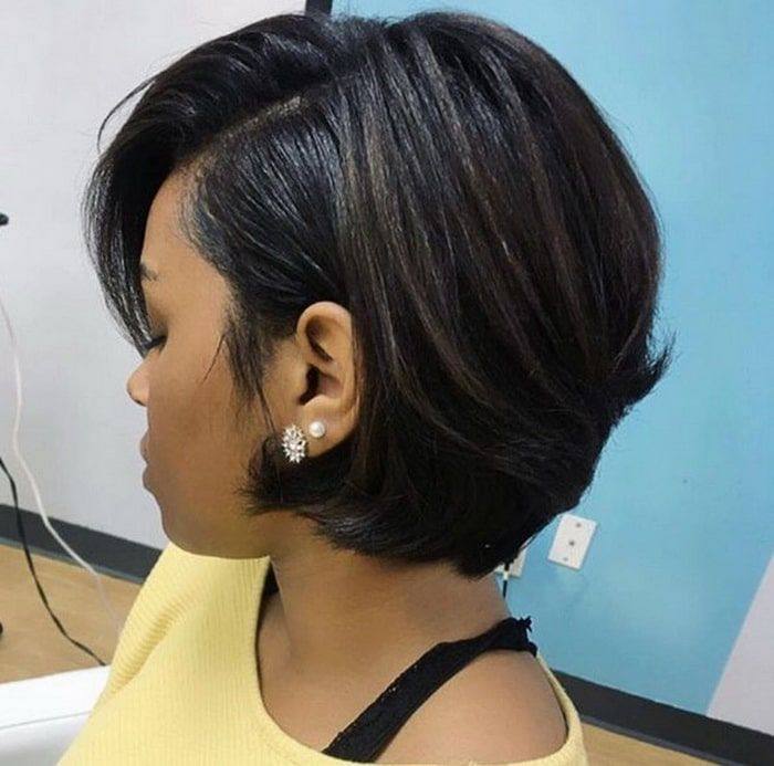 Black Women Bayalage Short Layered Bob Cut Hairstyles 2018 2019