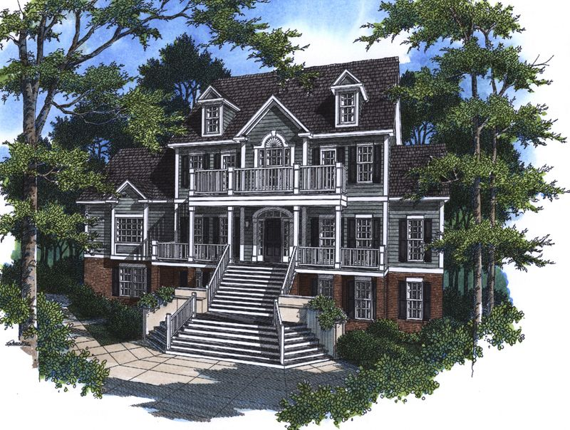 Prindable Plantation Home House plans Southern plantations and Home