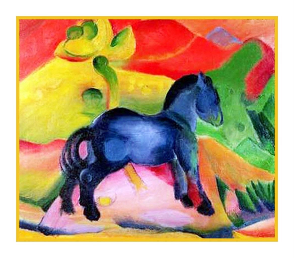 Expressionist Artist Franz Marc's The Little Blue Horse